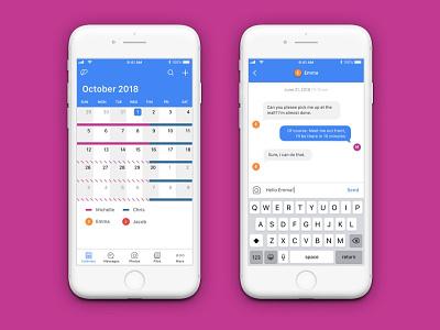 New Calendar Parent App ios11 android ios ui ux mobile