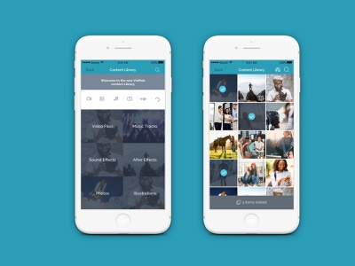 VidMob - Mobile Content Library And Checkout Part 1 video visual mobile app design ux ui ios
