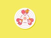 Drink Love Coaster