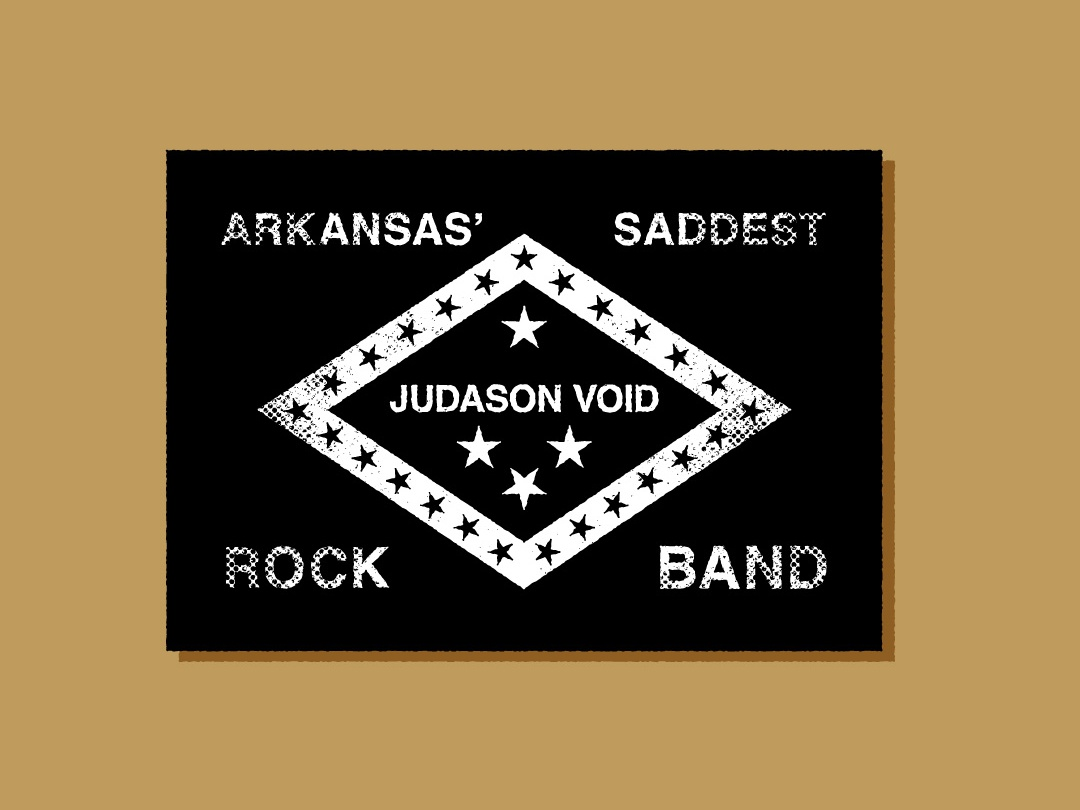 Judason Void illustration local arkansas flag vintage grunge music band