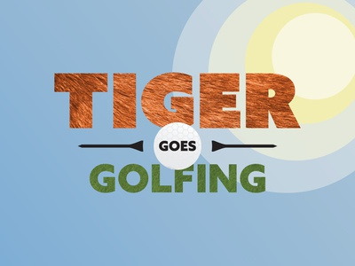 Tiger Goes Golfing - Title Close Up