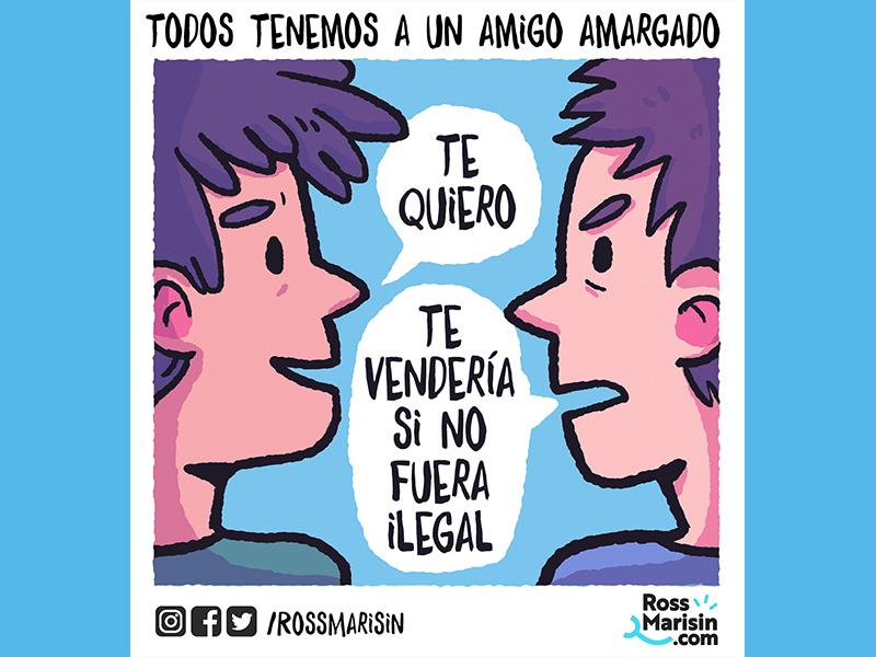 Amigo amargado friendship life people webcomic comic illustration cartoon