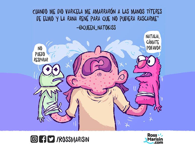 Varicela sickness kid life color people webcomic comic illustration cartoon
