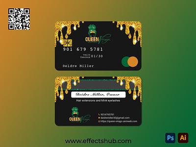 Luxury Business Card Design illustration design luxurybusinesscard luxurybusinescard graphic design glitterdripbusinesscard business card design effectshub business card