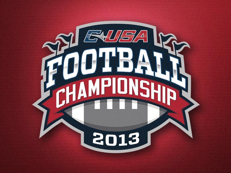 C-USA Football Championship Logo 2013 athletics college conference c-usa conference usa logo branding identity championship football