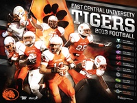 2013 East Central Football Poster