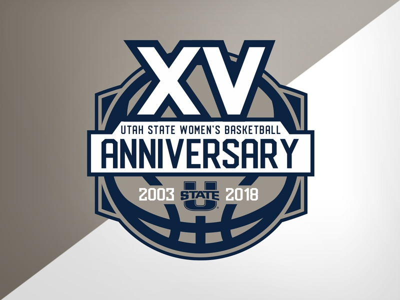 Utah State WBB Anniversary anniversary basketball university identity logo branding athletics