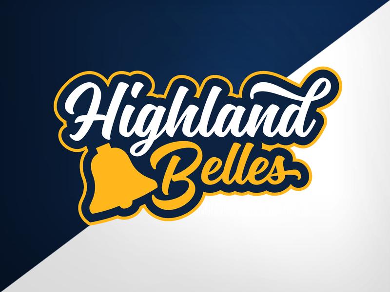 Highland Park (TX) Highland Belles (drill team) drill team high school identity logo branding athletics