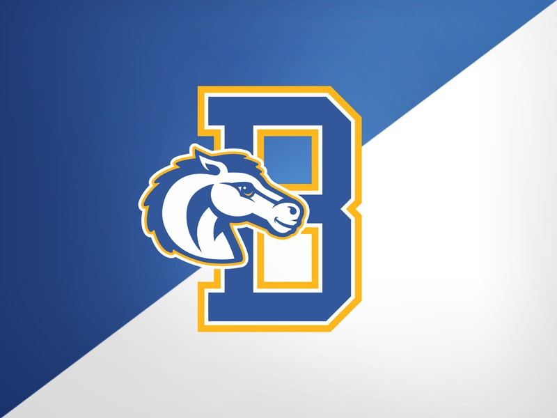 Highland Park (TX) Bradfied Elem. Broncos elementary school hp broncos identity logo branding athletics