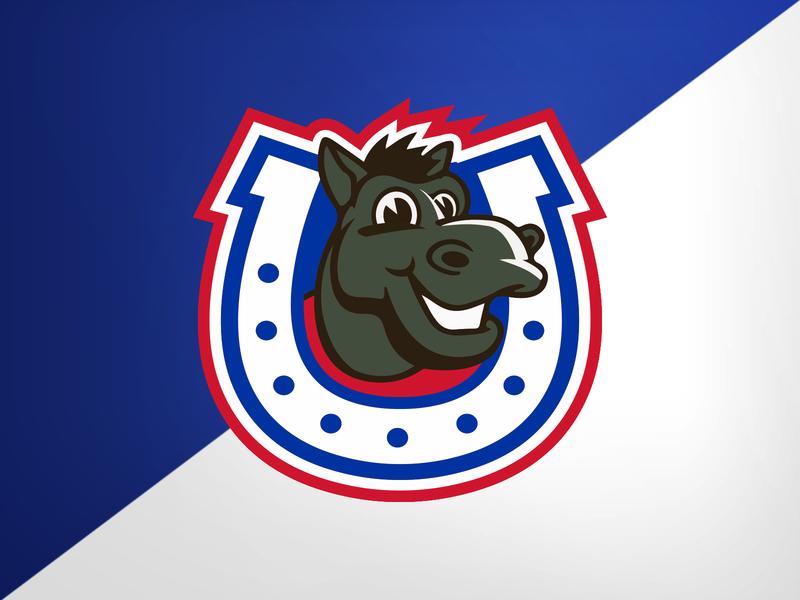 SMU Kids Club - Tertiary kids club smu horseshoe mustang pony design illustration university identity logo branding athletics