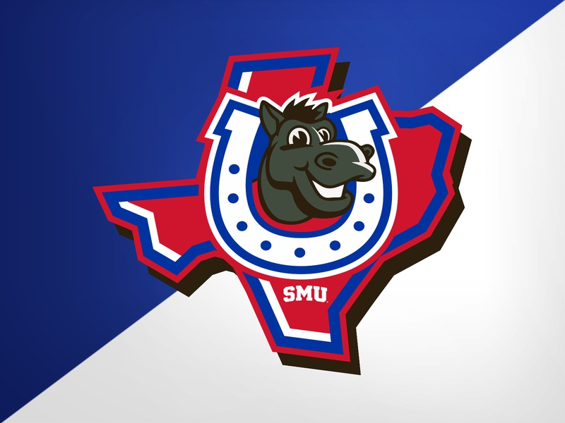 SMU Kids Club - Secondary kids club pony mustangs smu design college university identity logo branding athletics