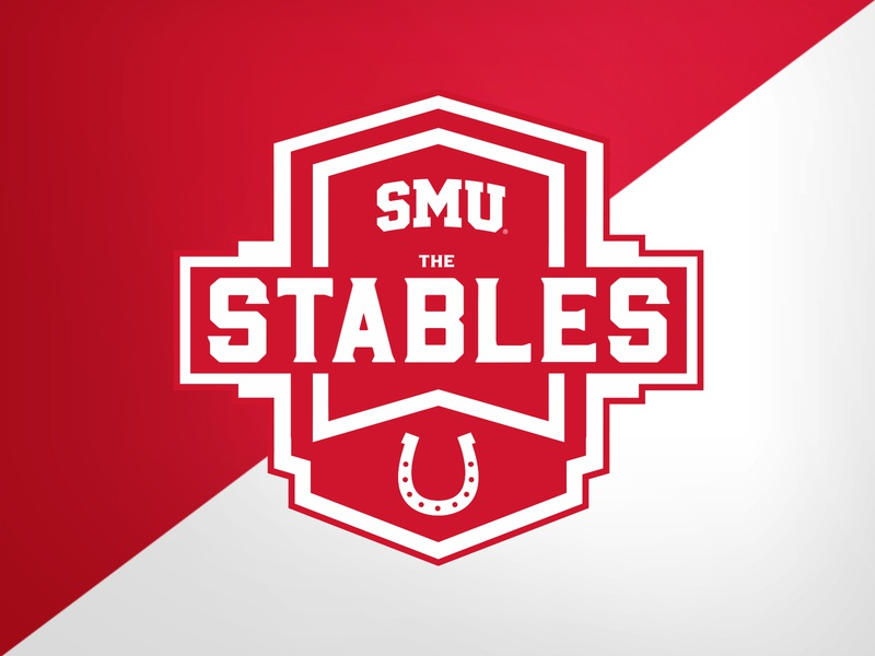 SMU Stables (Suite seating area) stadium football college university identity logo branding athletics