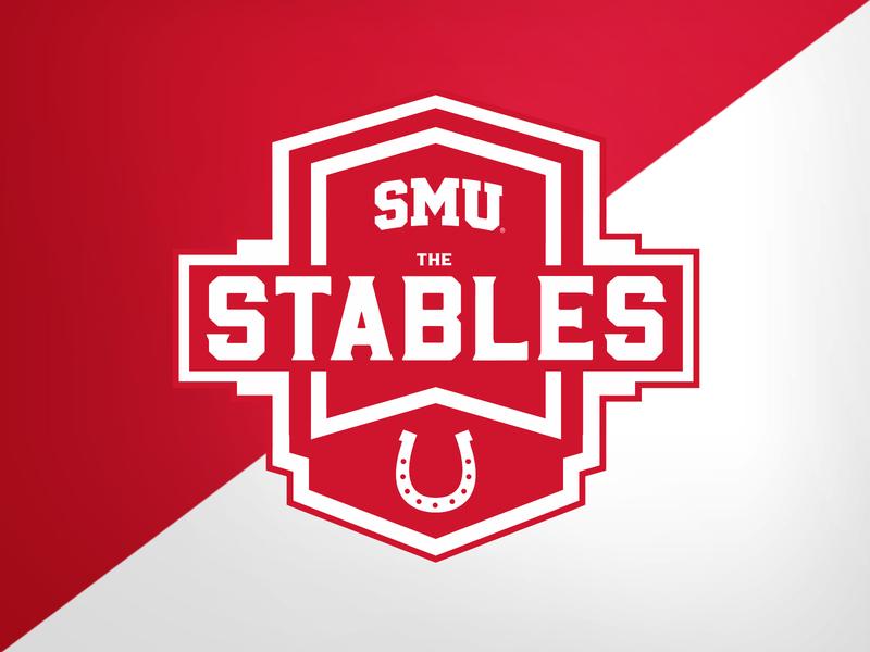 SMU Stables (Suite seating area) stadium football college university identity logo branding athletics