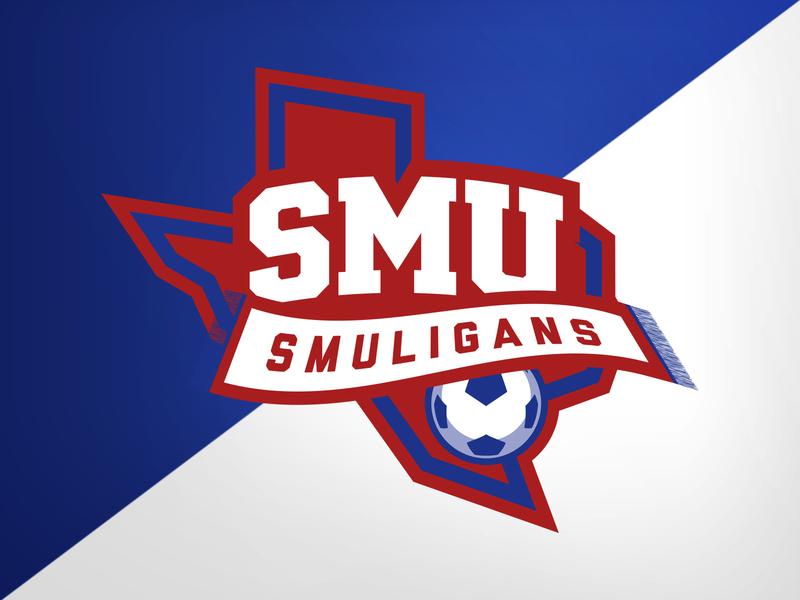 SMU SOC Smuligans hooligans futbol soccer smu college university identity logo branding athletics