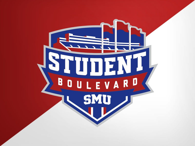 SMU Boulevard stadium smu illustration football college university identity logo branding athletics