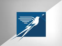 Scissortail Electric chargers flycatcher electric scissortail bird vector design illustration