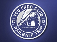 TCU Frog Club Railgate Logo