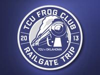 TCU Frog Club Railgate Logo