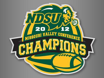 NDSU Conference Championship Logo athletics branding logo ndsu north dakota state championship football college