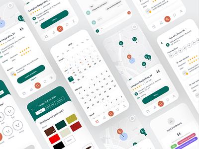 Poop Log and Toilet Finder App mobile design ux design ui