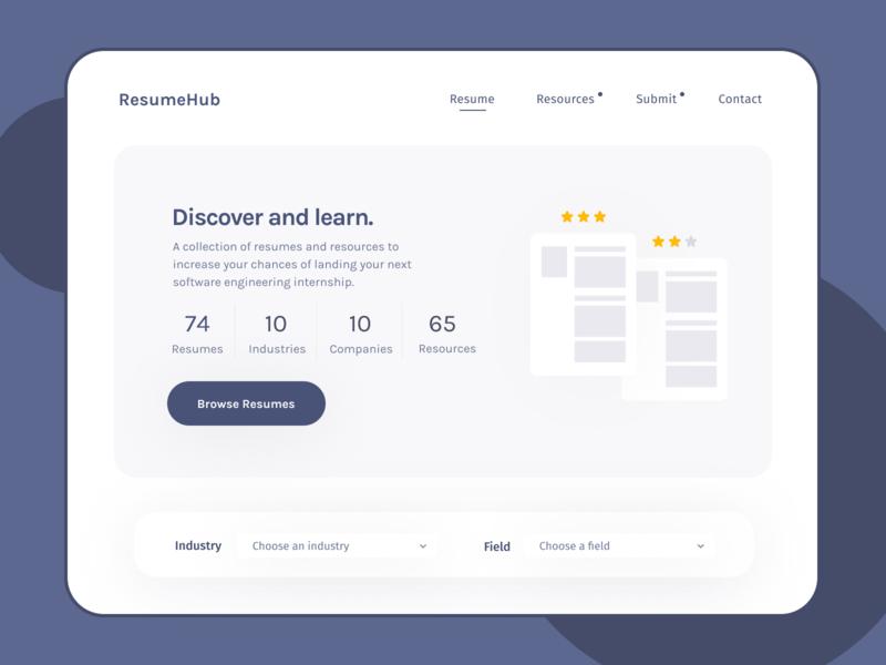 ResumeHub ux design ui design website website design design ui ux web design