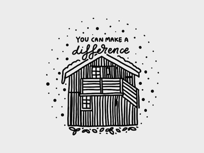 You can make a difference lettering illustration graphic design line art