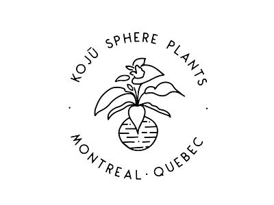 Logo design for Koju Sphere Plants branding graphic design logo logo design