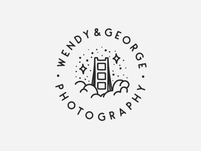 Wendy&George Photography Logo branding illustration graphic design logo logo design