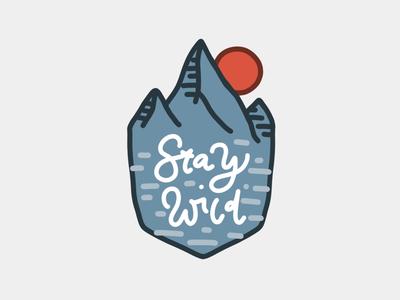 Stay wild procreate illustration graphic design vector art