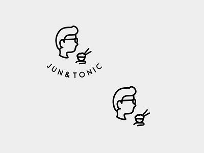 Logo design for Jun&Tonic illustration graphic design branding logo design
