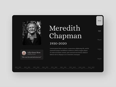 Online Memorial UI Design ui mobile website design ui design ux design