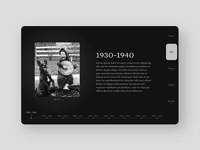 Online Memorial UI Design - Info Page visual design ui design ux design mobile ui ux webdesign