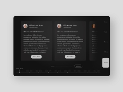 Online Memorial UI Design - Guestbook Page product design visual design mobile design website design ui design ux design ui ux