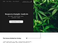 Cannabis Testing Landing Page