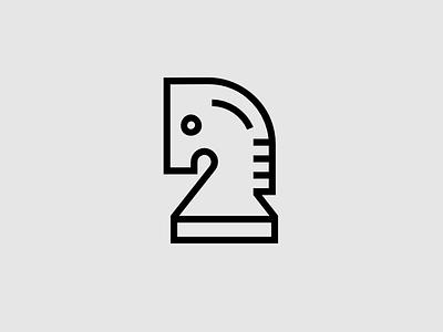 Chess Knight chess figure logo icon knight chess