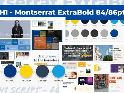 Summer at SEM Mood Board 829 layout school color palette process mood board