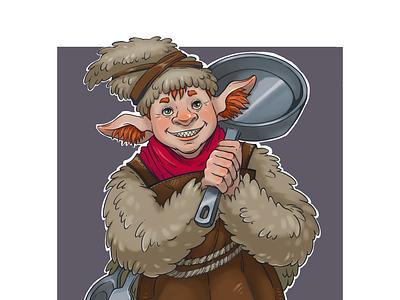domovoy color mythology character linear lineart illustration fantasy cartoon