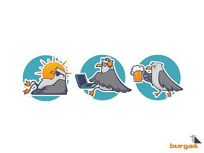 all Glaruses For Viber burgas sea sun drink relax work summer seagull bird