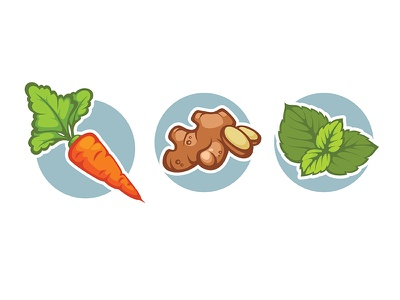 some flavors  for healthy drinks:) herb juice fresh vegetable ginger mint carrot