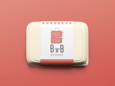 Identity design for BnB (Tiffin service) icon procreateapp typography growth vector design branding logo illustration