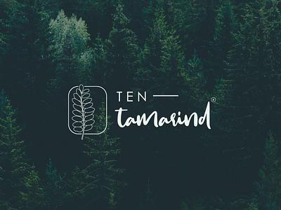 Ten tamarind logo design app icon typography procreateapp logo vector illustration