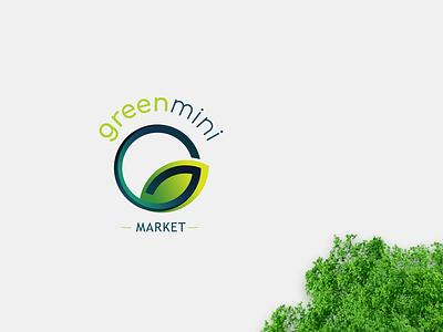 Greenmini Market Logo minimal web typography icon growth logo procreateapp app vector branding