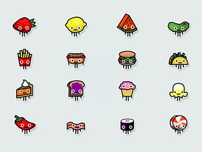 Tiny Food Characters