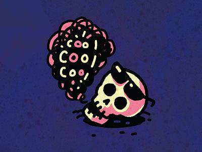 cool cool cool coolcoolcool cool skull character emoji vector trevor van meter tvm heytvm illustration