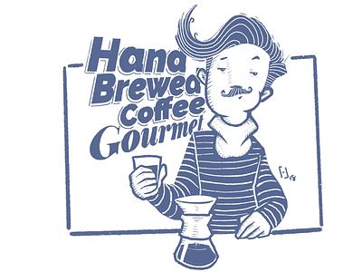 Hand Brewed Coffee Gourmet illustration procreate coffee digital illustration