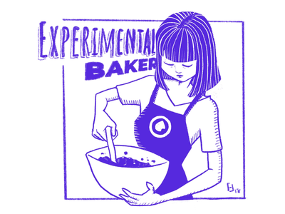 Experimental Baker illustration coffee shop baker digital illustration procreate