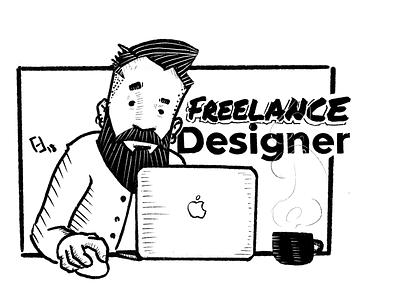 Freelance Designer drawing freelance designer designer personal project illustration procreate digital illustration