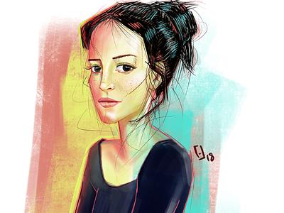 Portraits 2/50 procreate drawing digital illustration illustration portrait drawing