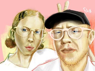 Portraits 3/50 illustration ipadpro procreate digital illustration portrait drawing