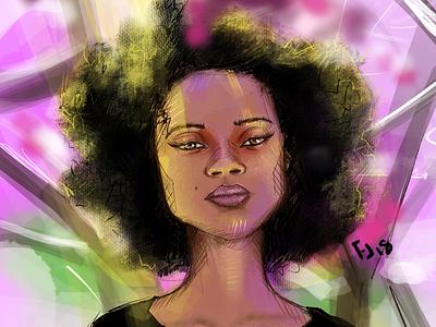 Portrait 4/50 digital illustration drawing illustration procreate